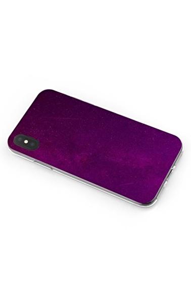 Lopard iPhone Xs Max Kılıf Silikon Arka Kapak Koruyucu Fuşya Geceler 2 Desenli Full HD Baskılı Renkli